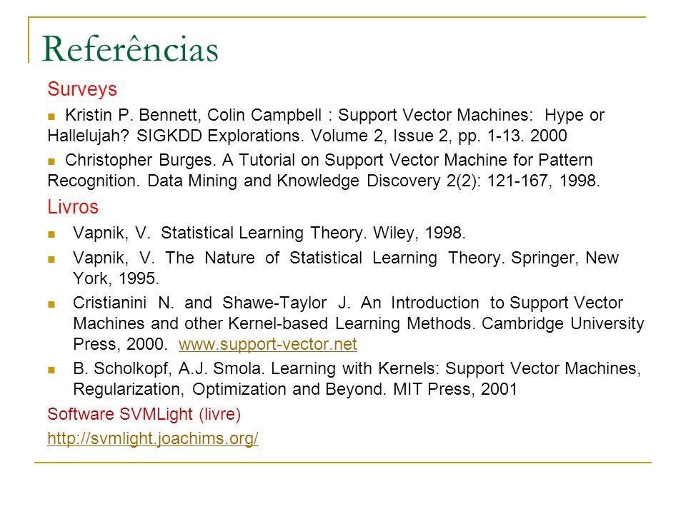 Referências Surveys Livros