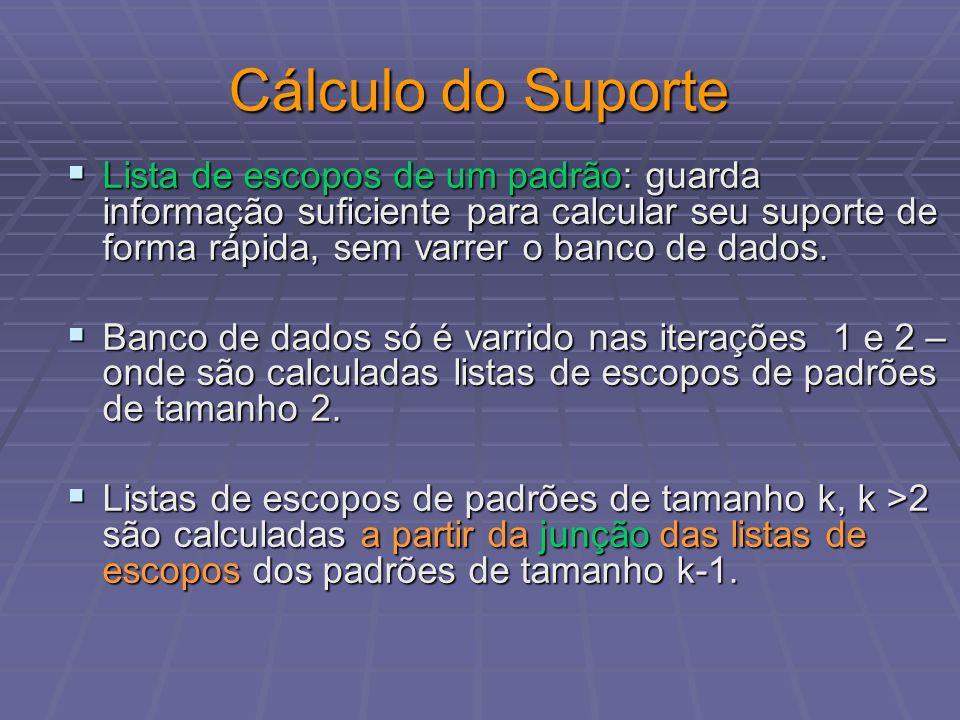 Cálculo do Suporte