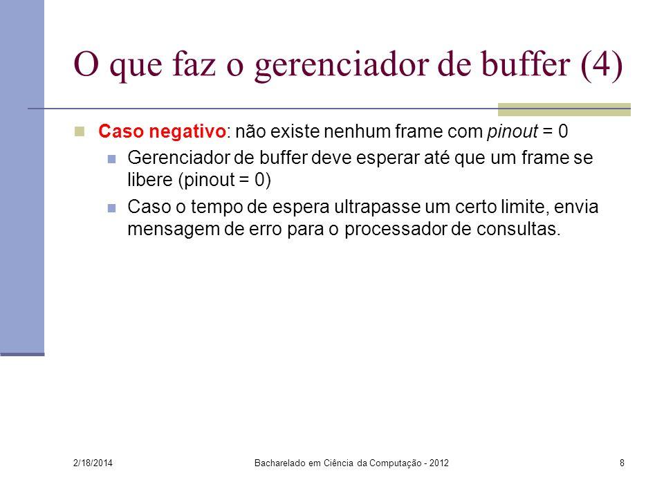 O que faz o gerenciador de buffer (4)