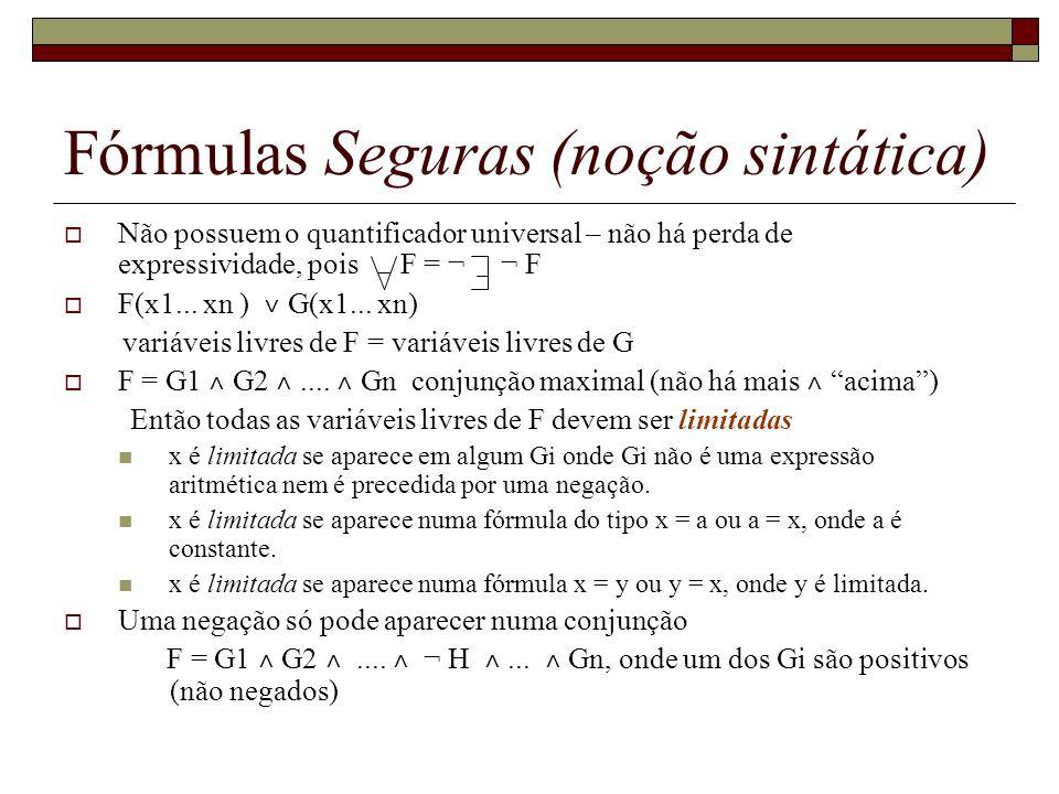 Fórmulas Seguras (noção sintática)