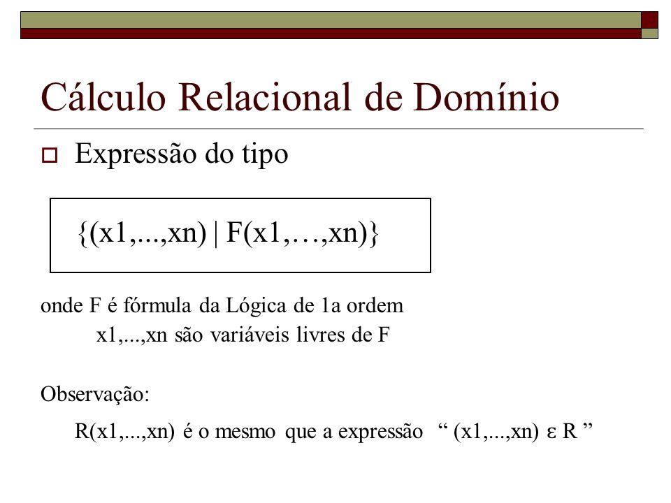 Cálculo Relacional de Domínio