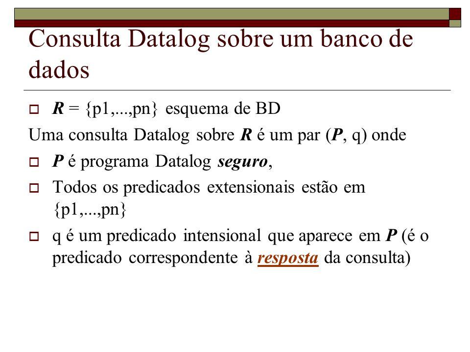 Consulta Datalog sobre um banco de dados
