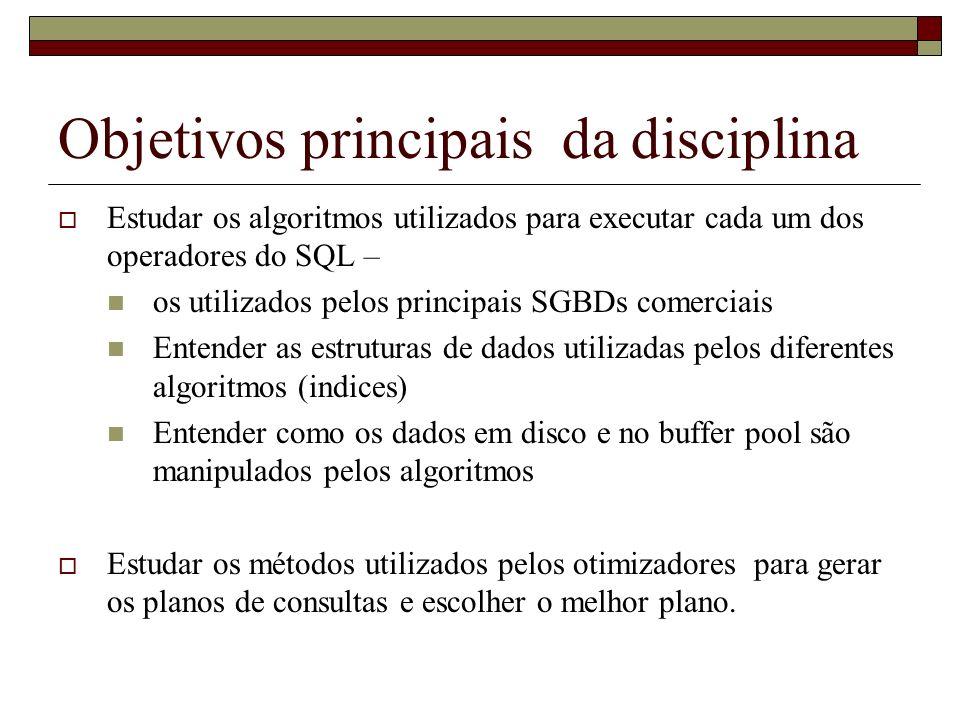 Objetivos principais da disciplina