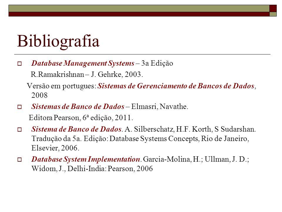 Bibliografia Database Management Systems – 3a Edição