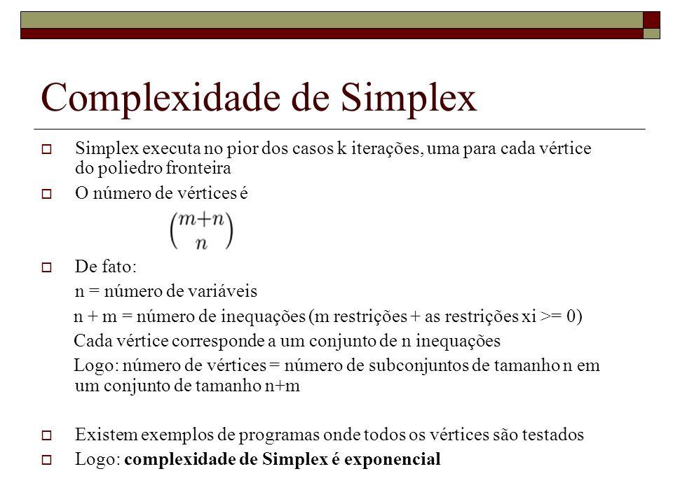 Complexidade de Simplex
