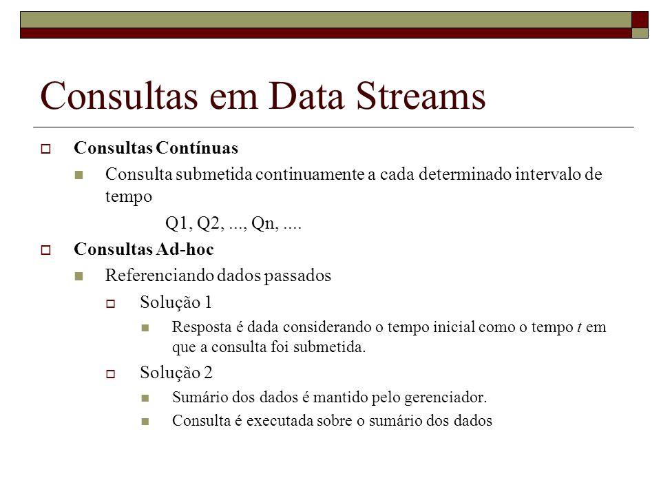 Consultas em Data Streams