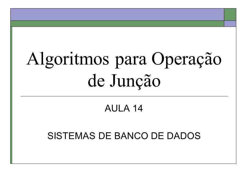 Algoritmos para Operação de Junção