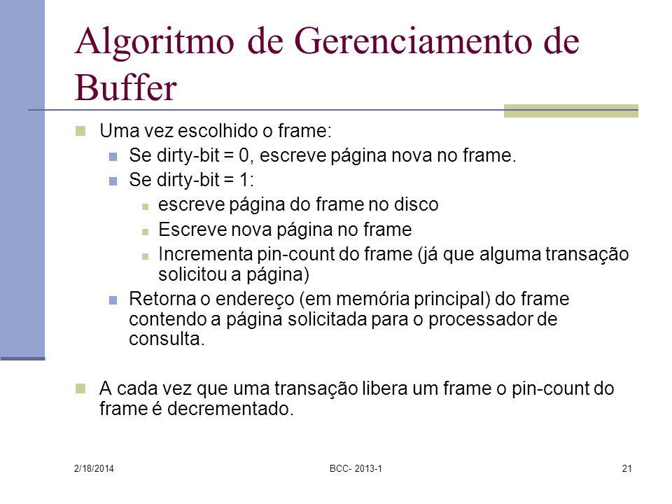 Algoritmo de Gerenciamento de Buffer