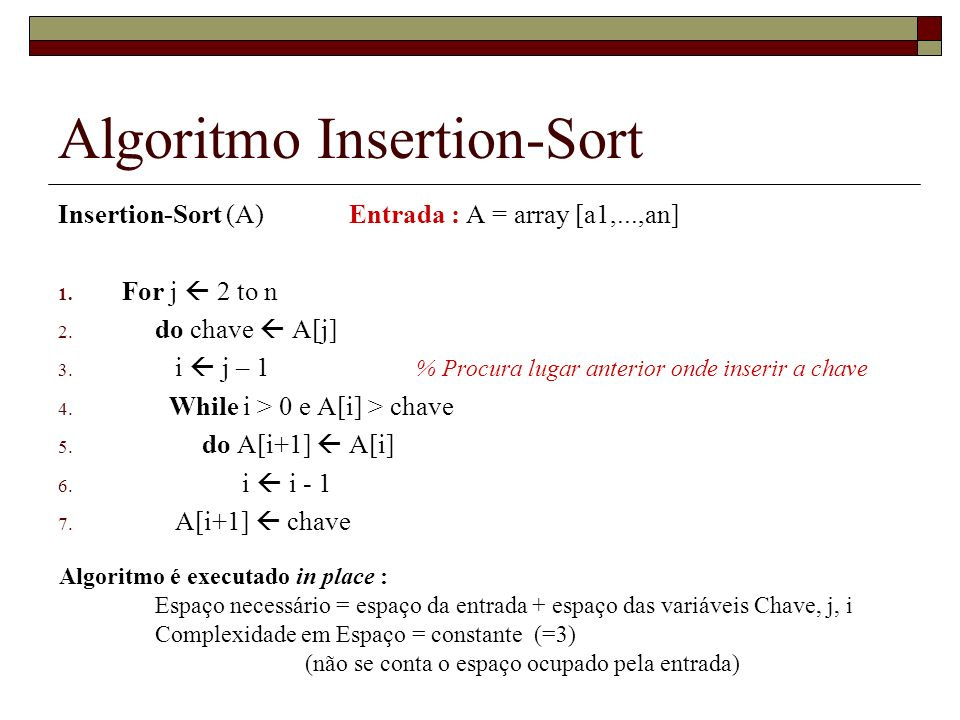 Algoritmo Insertion-Sort