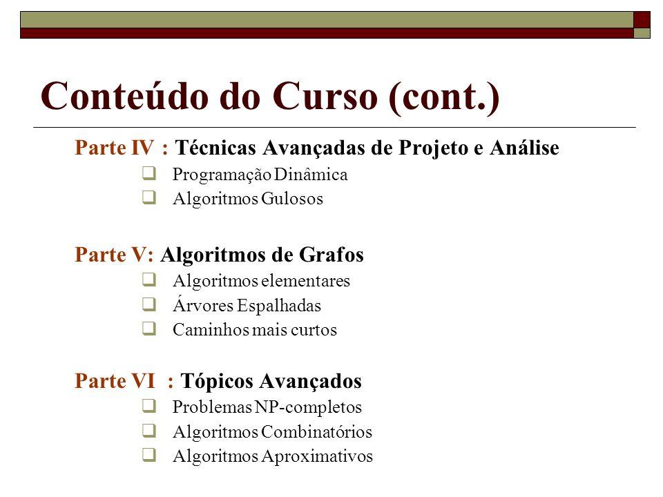 Conteúdo do Curso (cont.)
