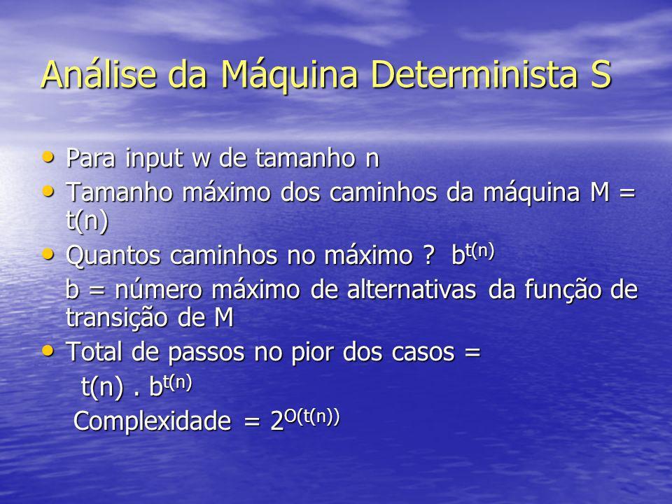 Análise da Máquina Determinista S