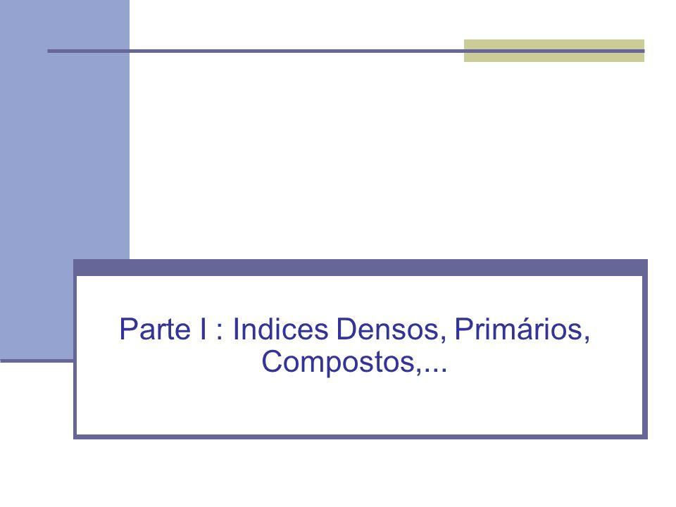 Parte I : Indices Densos, Primários, Compostos,...