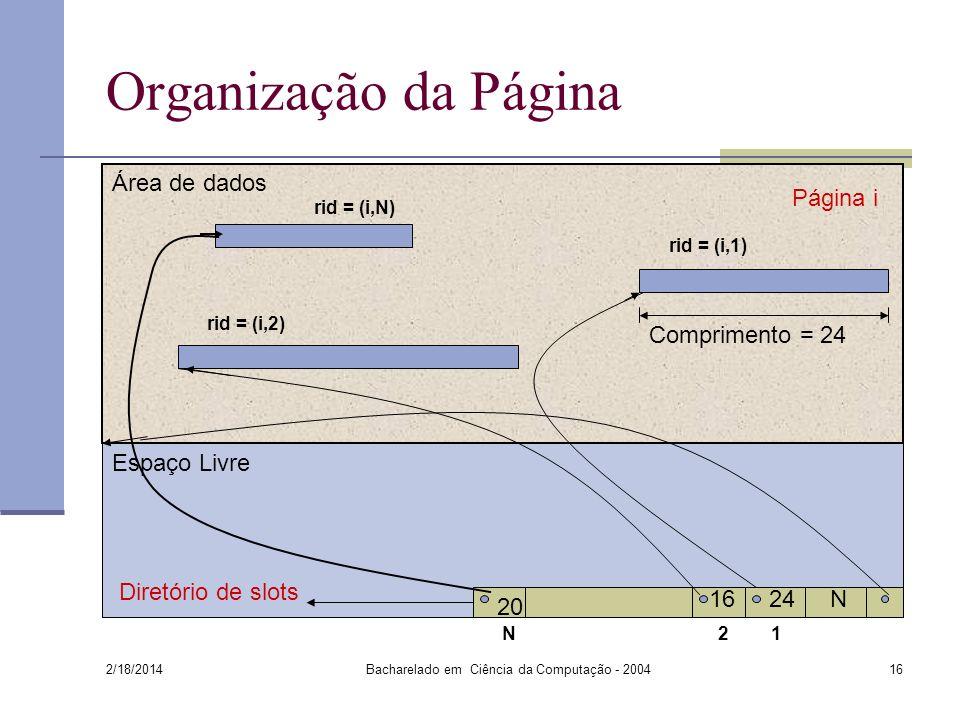 Bacharelado em Ciência da Computação - 2004
