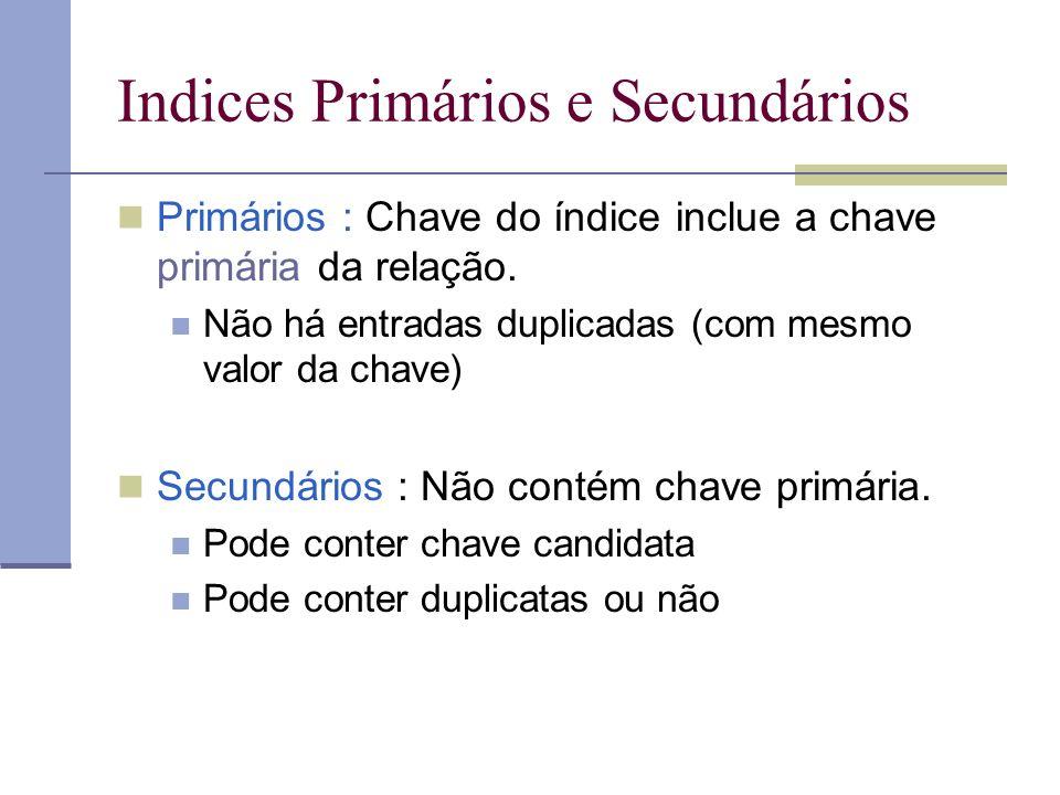 Indices Primários e Secundários