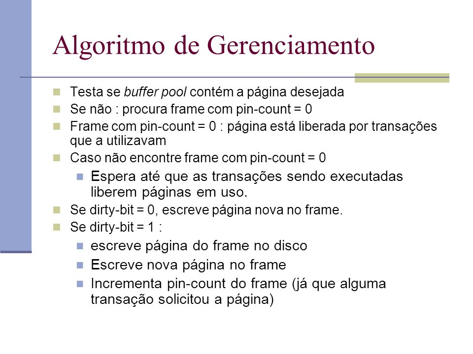 Algoritmo de Gerenciamento