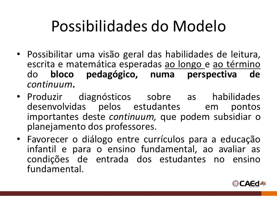 Possibilidades do Modelo