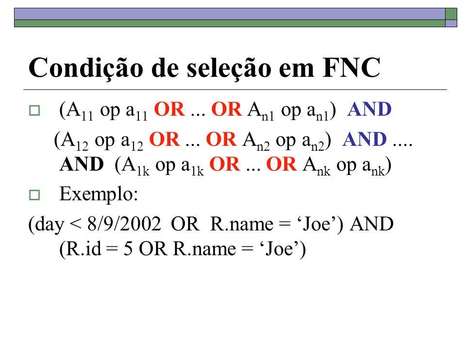 Condição de seleção em FNC