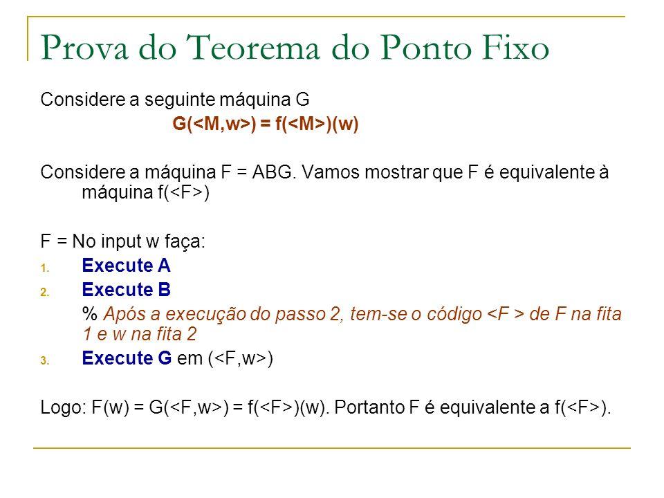 Prova do Teorema do Ponto Fixo