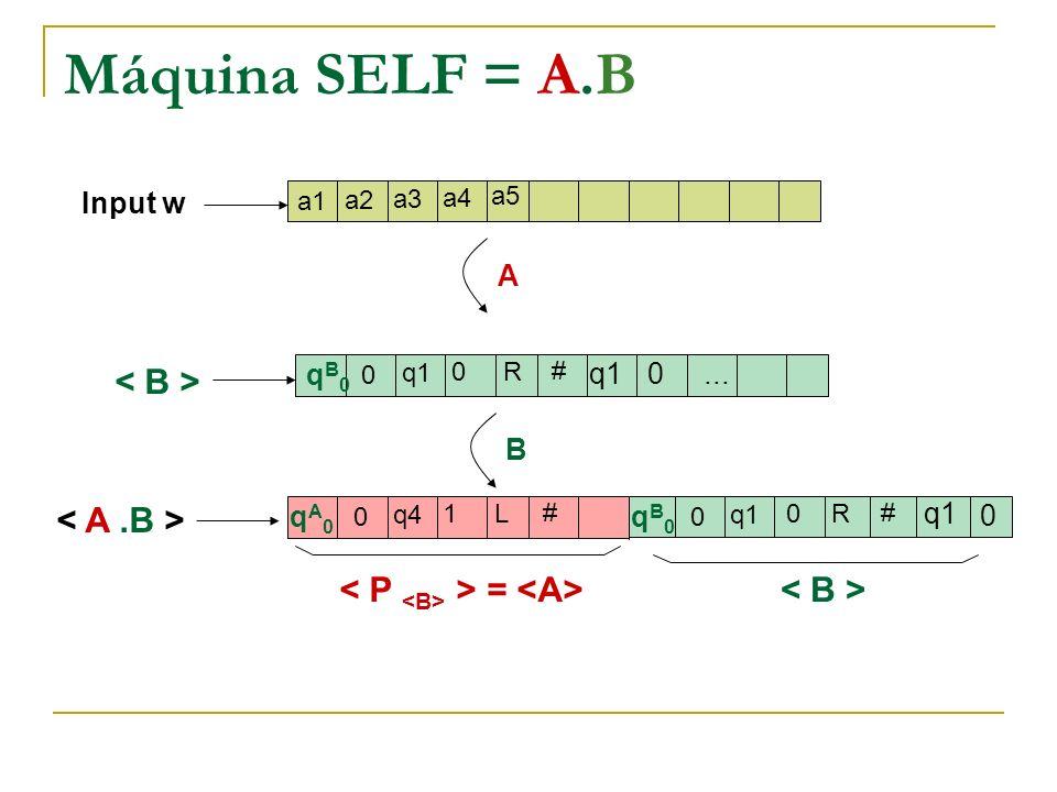 Máquina SELF = A.B < B > < A .B >
