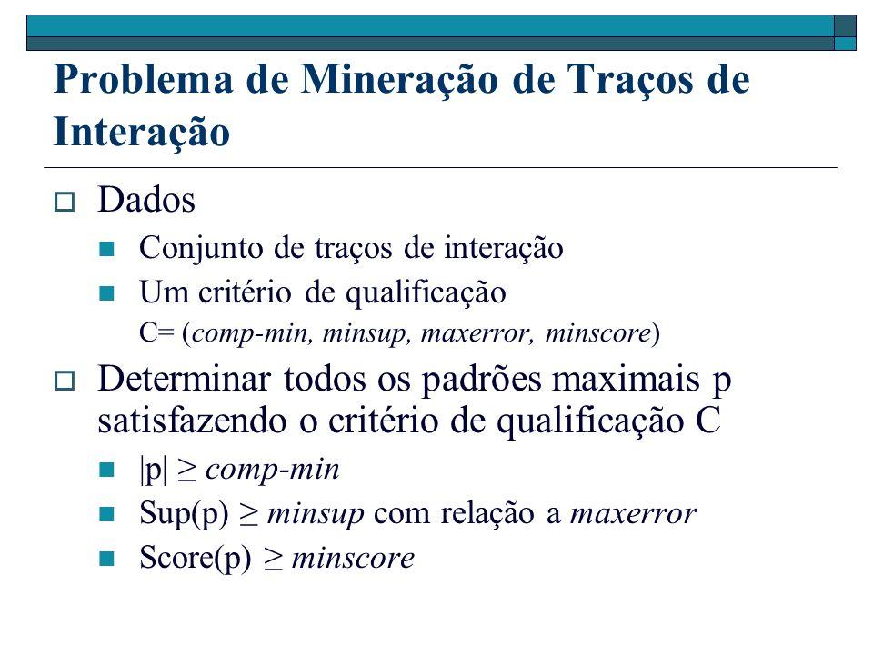 Problema de Mineração de Traços de Interação