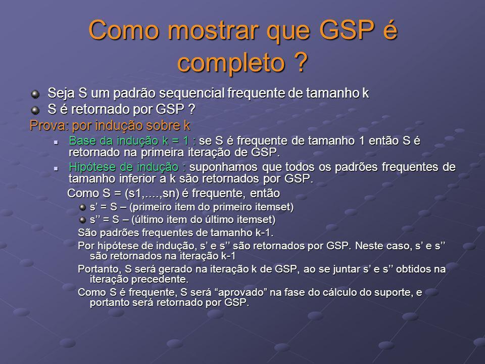 Como mostrar que GSP é completo