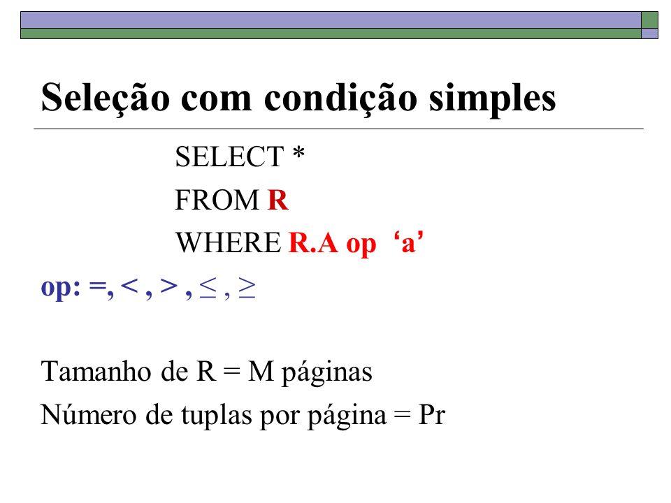 Seleção com condição simples