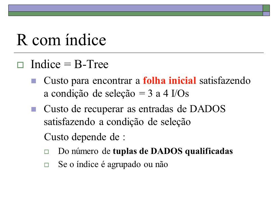 R com índice Indice = B-Tree