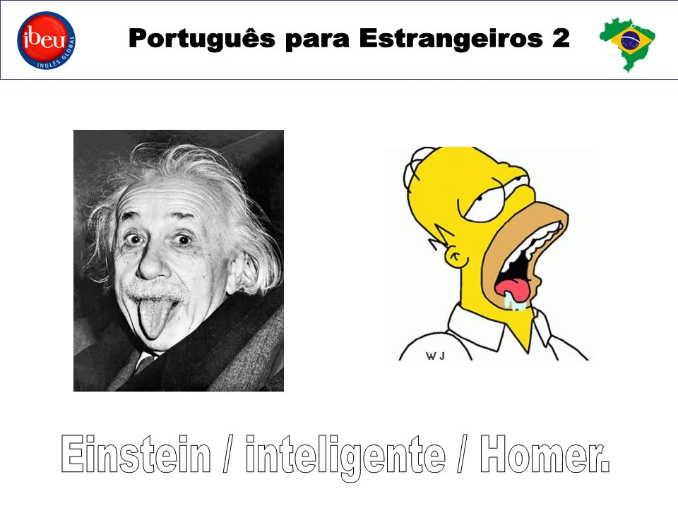 Einstein / inteligente / Homer.