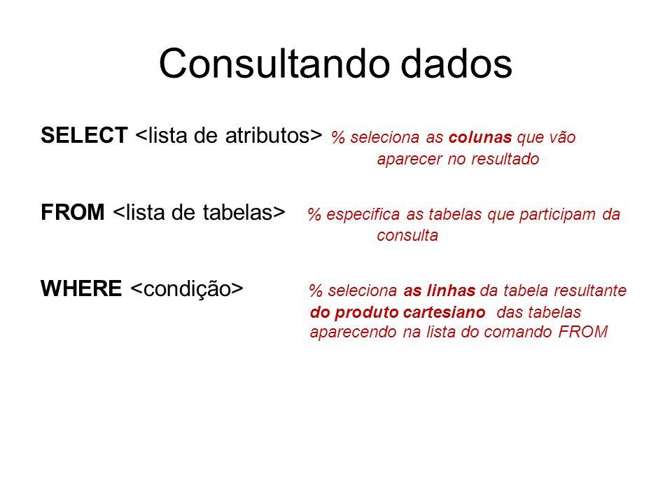 Consultando dados