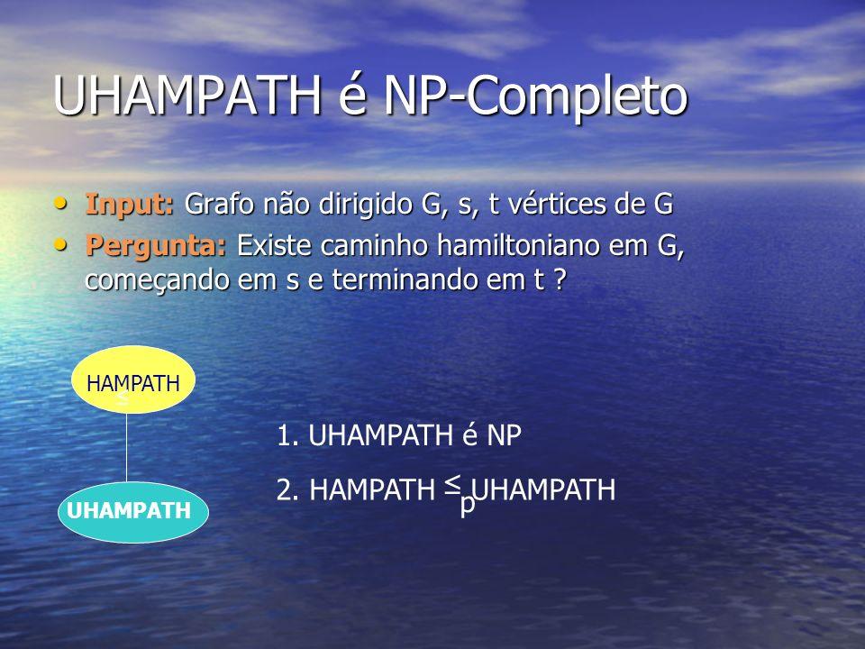 UHAMPATH é NP-Completo