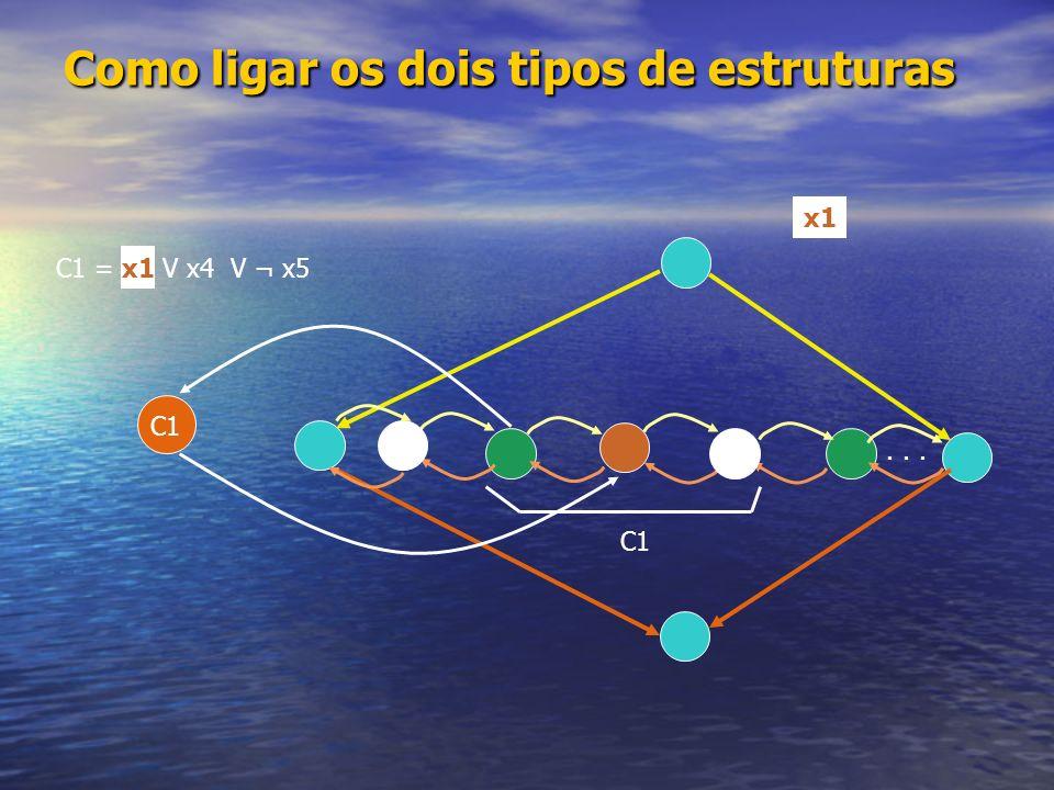 Como ligar os dois tipos de estruturas
