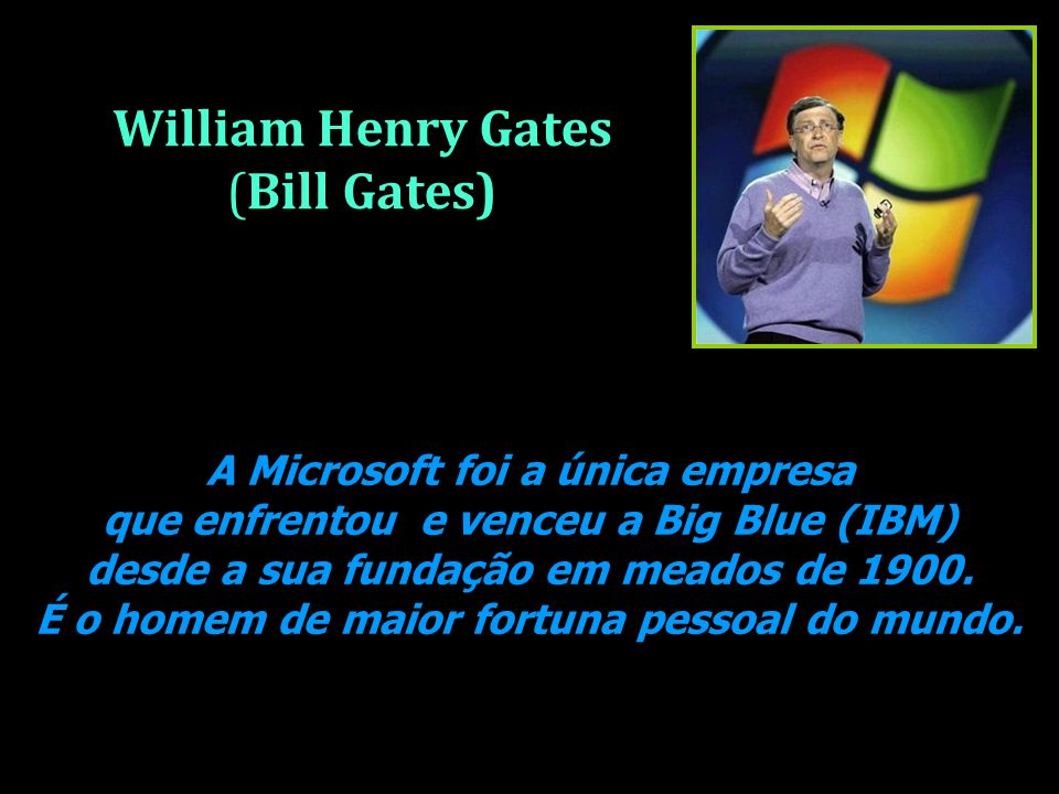 William Henry Gates (Bill Gates)