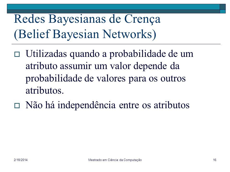 Redes Bayesianas de Crença (Belief Bayesian Networks)