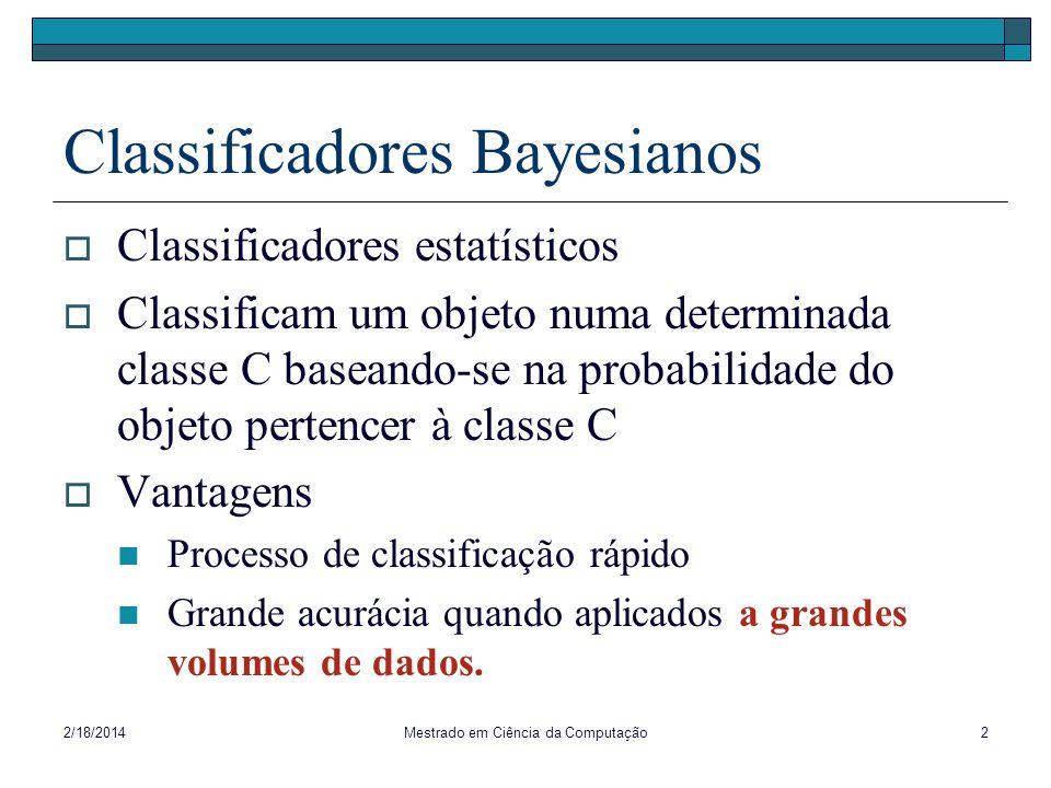Classificadores Bayesianos