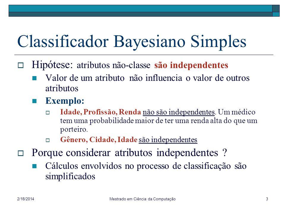 Classificador Bayesiano Simples