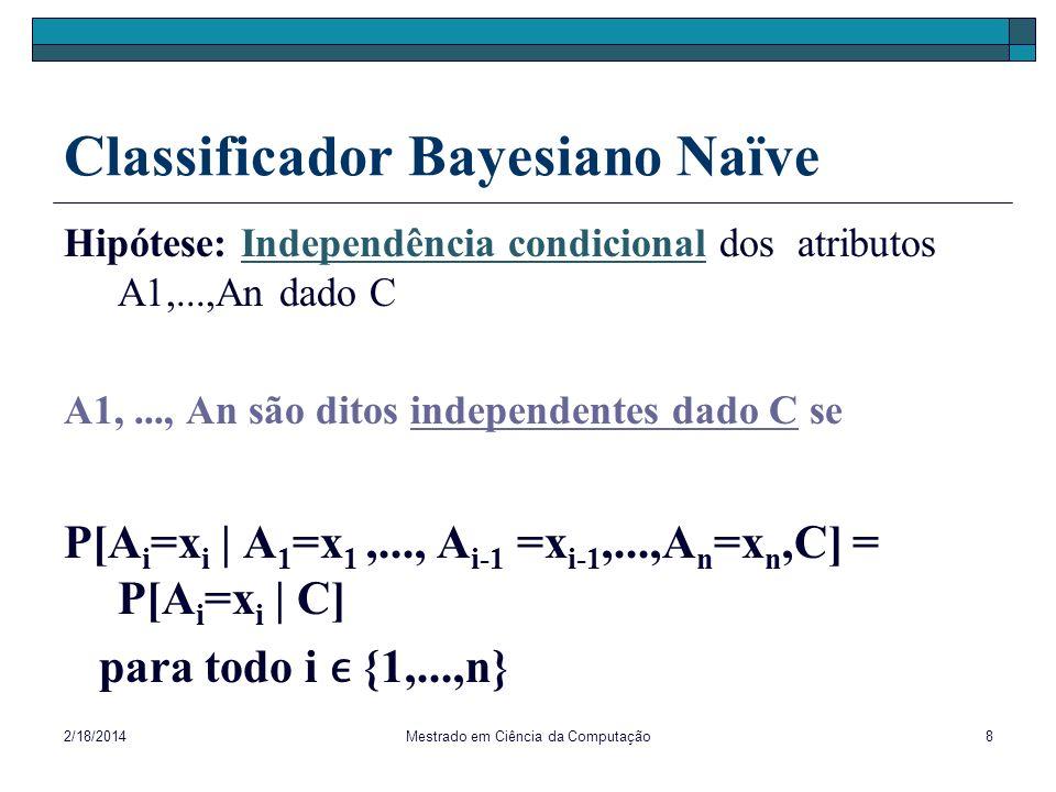 Classificador Bayesiano Naïve