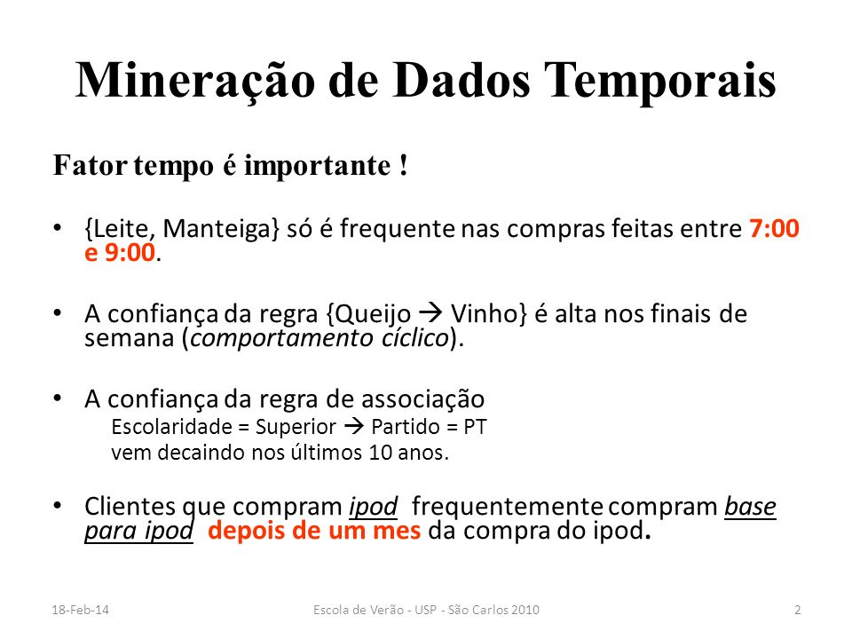 Mineração de Dados Temporais