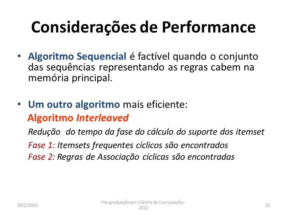 Considerações de Performance