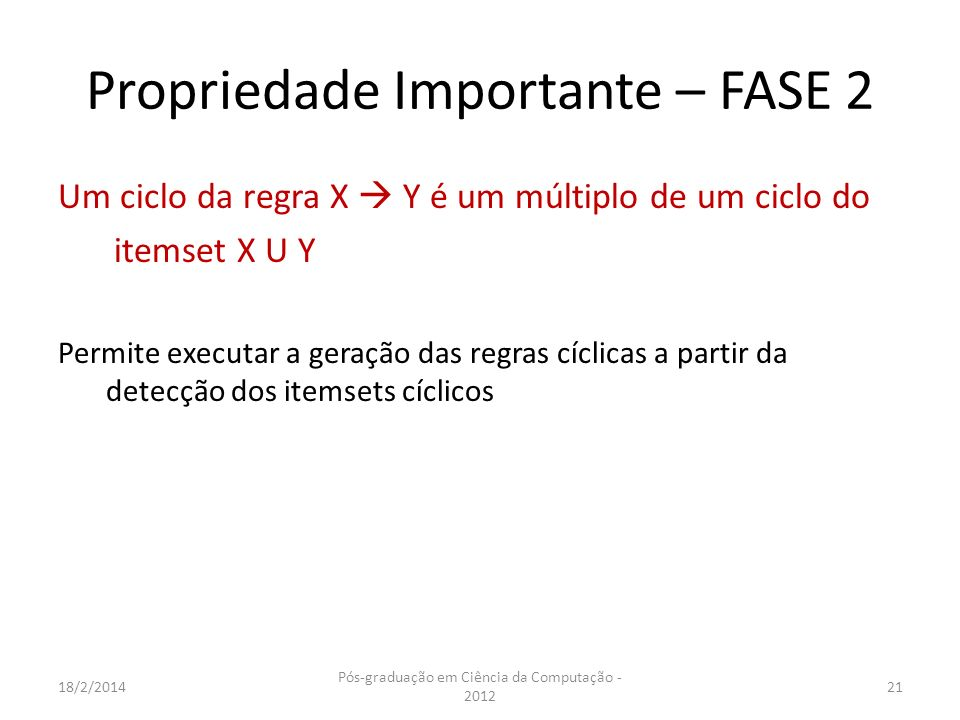 Propriedade Importante – FASE 2