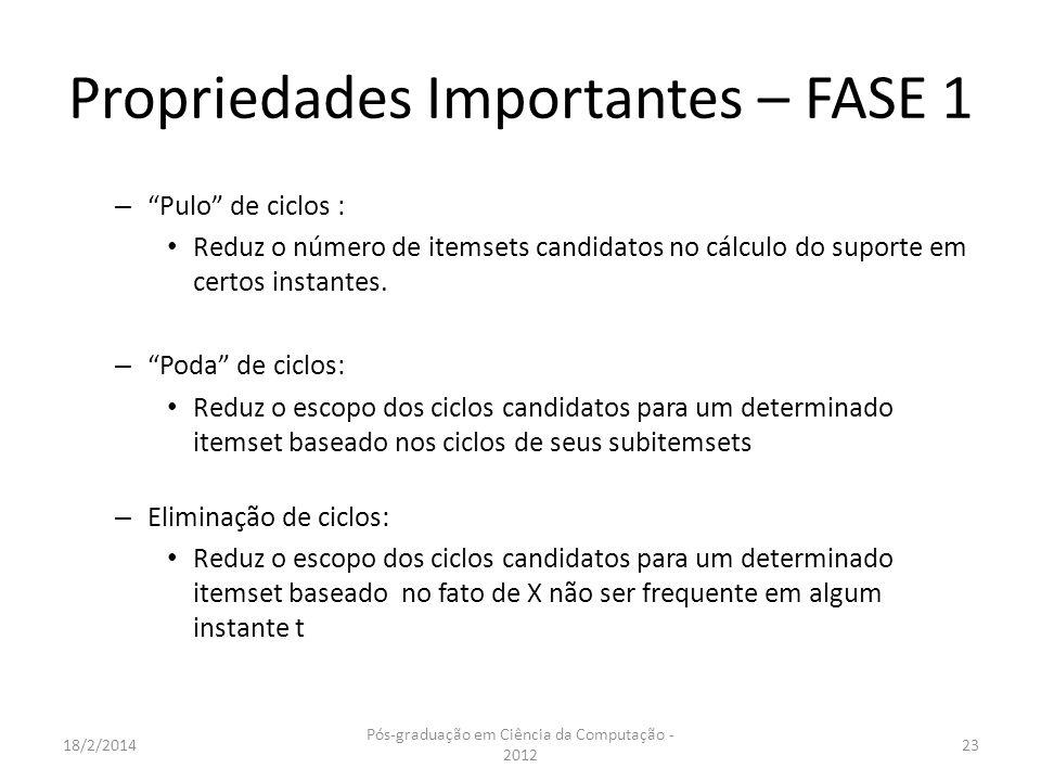Propriedades Importantes – FASE 1