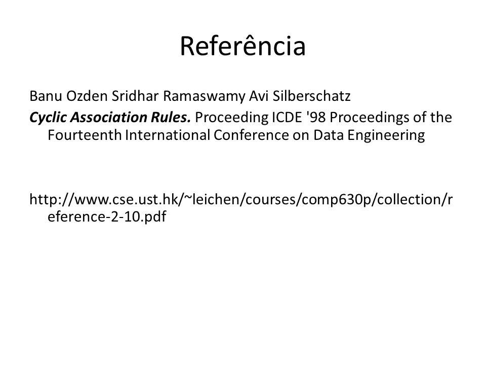 Referência Banu Ozden Sridhar Ramaswamy Avi Silberschatz