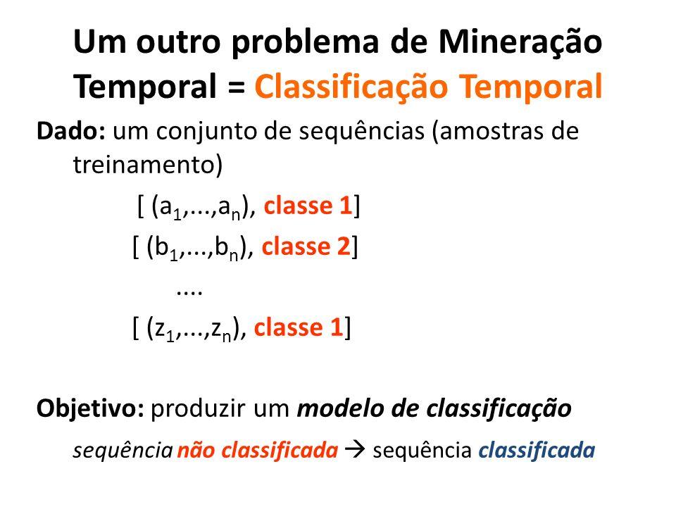 Um outro problema de Mineração Temporal = Classificação Temporal