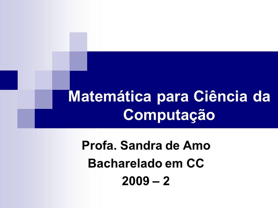 Matemática para Ciência da Computação