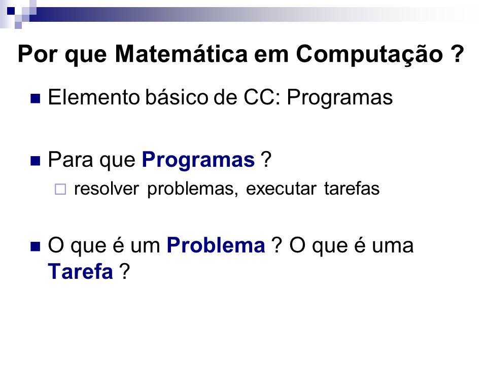 Por que Matemática em Computação