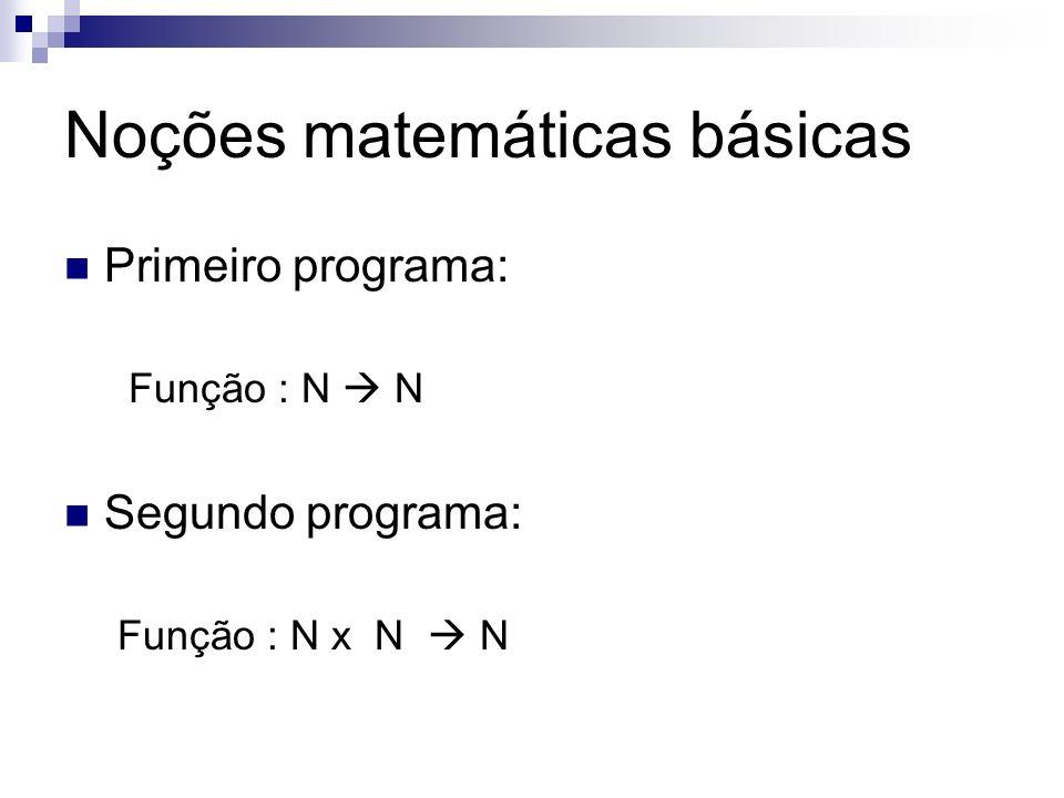 Noções matemáticas básicas