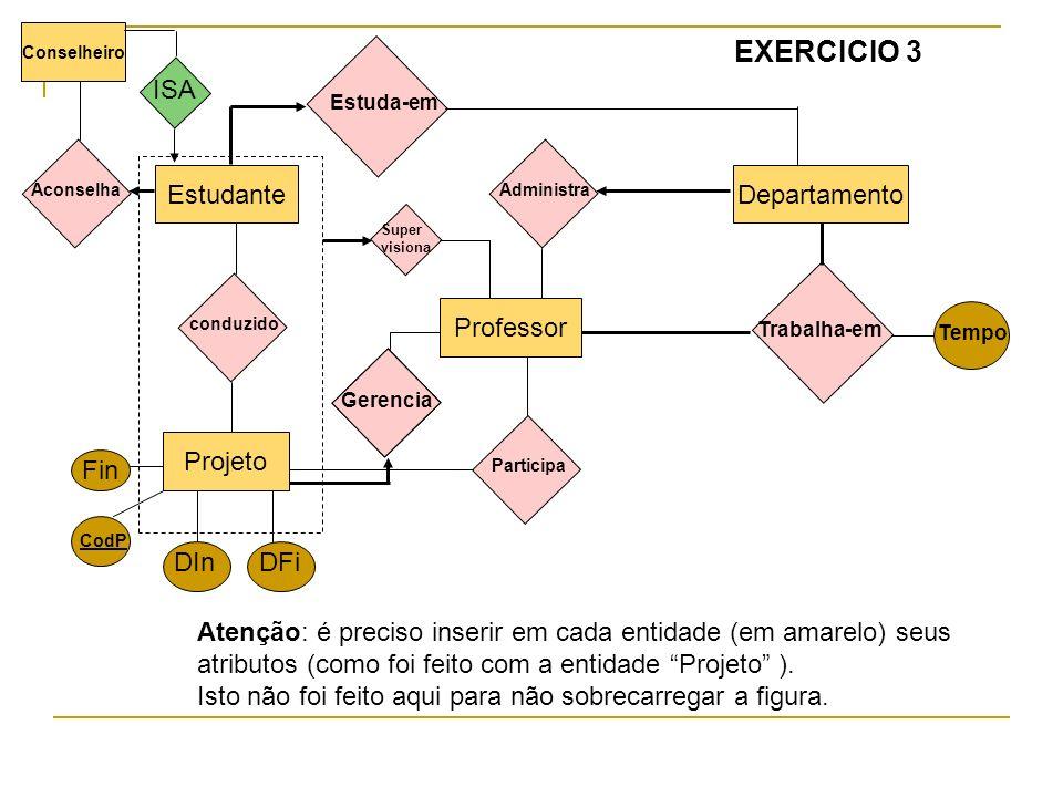 EXERCICIO 3 ISA Estudante Departamento Professor Projeto Fin DIn DFi