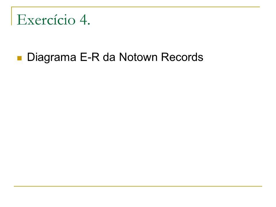 Exercício 4. Diagrama E-R da Notown Records