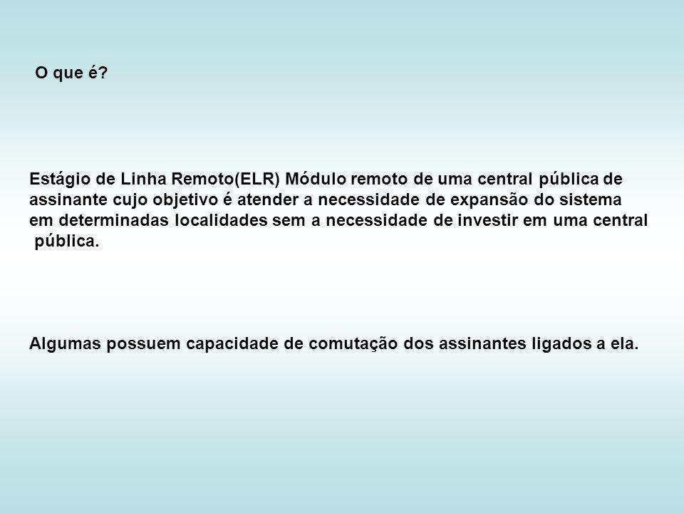 O que é Estágio de Linha Remoto(ELR) Módulo remoto de uma central pública de.