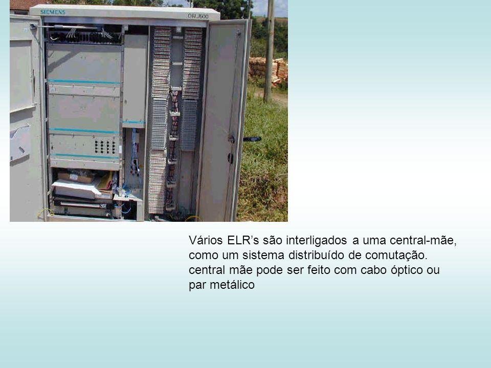 Vários ELR's são interligados a uma central-mãe,