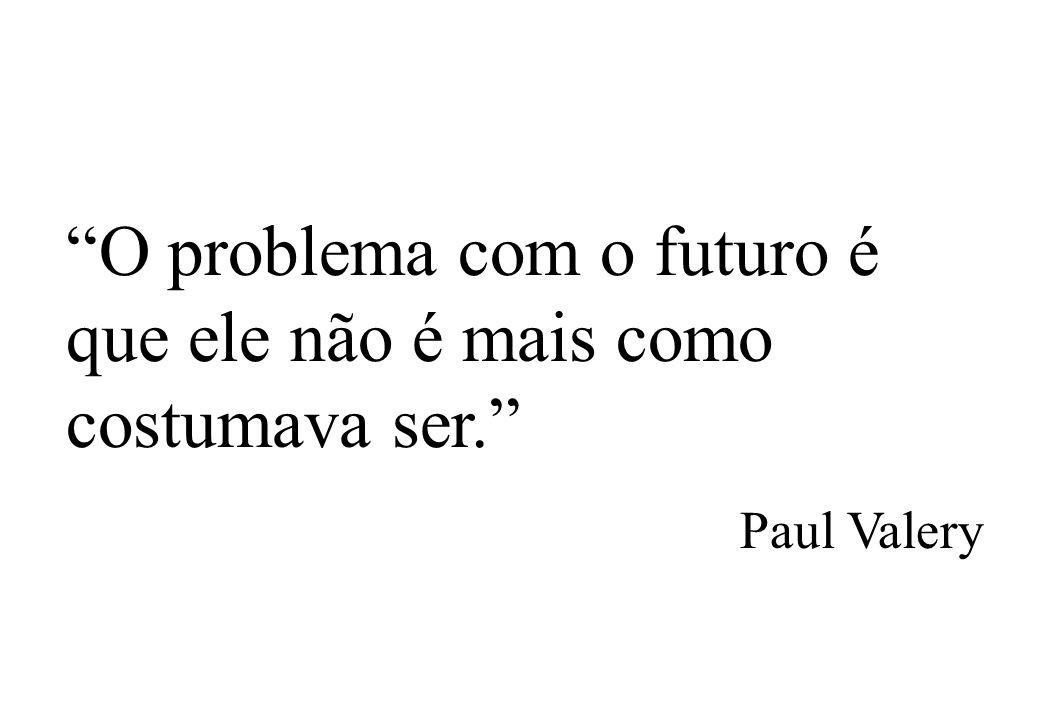 O problema com o futuro é que ele não é mais como costumava ser.